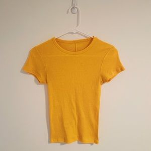 Urban Outfitters Yellow/ Orange Fitted T-Shirt XS
